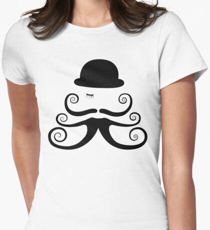 Clockwork Moustache Womens Fitted T-Shirt