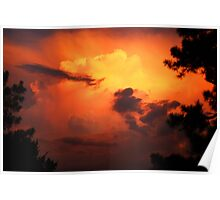 Clouds after the Storm at Sundown Poster