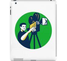 Movie Director Movie Film Camera Circle Retro iPad Case/Skin