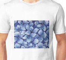 blue watercolor hydrangea Unisex T-Shirt