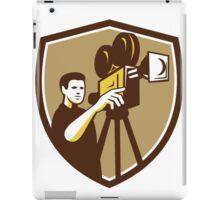 Movie Director Movie Film Camera Shield Retro iPad Case/Skin