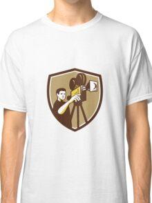 Movie Director Movie Film Camera Shield Retro Classic T-Shirt