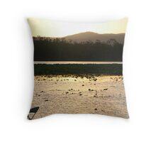 Wetlands Sunset (No 1) - Mareeba Wetlands  Throw Pillow