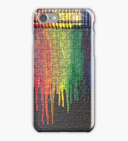 Melted Crayon Art - Puzzle  iPhone Case/Skin