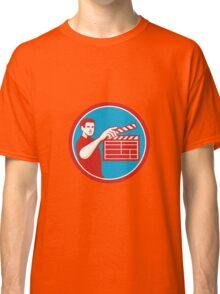 Film Crew Clapperboard Circle Retro Classic T-Shirt