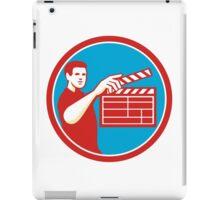Film Crew Clapperboard Circle Retro iPad Case/Skin
