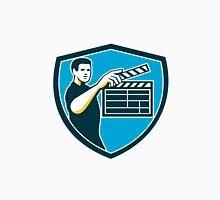 Film Crew Clapperboard Shield Retro Unisex T-Shirt