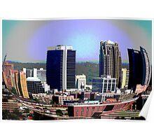 Cityscape, Birmingham Alabama Poster
