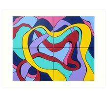 Ribbon Quartet Art Print