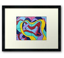 Ribbon Quartet Framed Print
