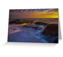 Sunset Spill Greeting Card