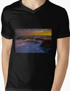 Sunset Spill Mens V-Neck T-Shirt