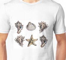 seashells pattern Unisex T-Shirt