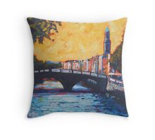 Father Mathew Bridge. Dublin Throw Pillow