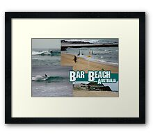 Surfing At Bar Beach Framed Print