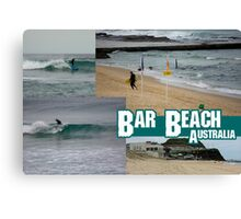 Surfing At Bar Beach Canvas Print