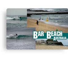 Surfing At Bar Beach Canvas Print