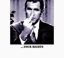 George W. Bush gives the finger Unisex T-Shirt