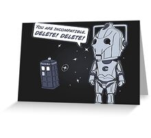 Delete! Greeting Card