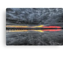 Long Jetty Sunset Canvas Print