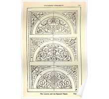 A Handbook Of Ornament With Three Hundred Plates Franz Sales Meyer 1896 0287 Enclosed Ornament Lunette Spanrail Panel Poster