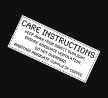 Care Instructions - Coffee by Ron Marton
