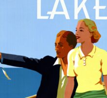 Cruise the Great Lakes Vintage Travel Poster Sticker