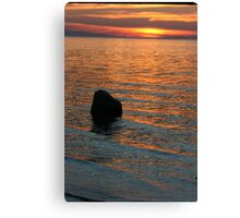 Lake Michigan Pastels Canvas Print