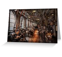 Machinist - A fully functioning machine shop  Greeting Card
