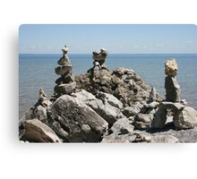 Rock Sculptures to the Lake Gods -1 Canvas Print