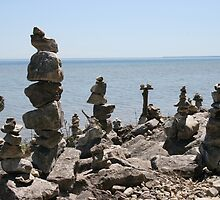 Rock Sculptures to the Lake Gods -2 by John Carpenter