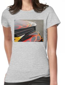 1937 Ford Coupe Old School Hotrod with Flames - Flamed out! Womens Fitted T-Shirt
