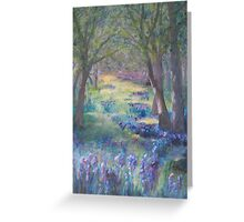 INTO THE BLUEBELL WOODS Greeting Card
