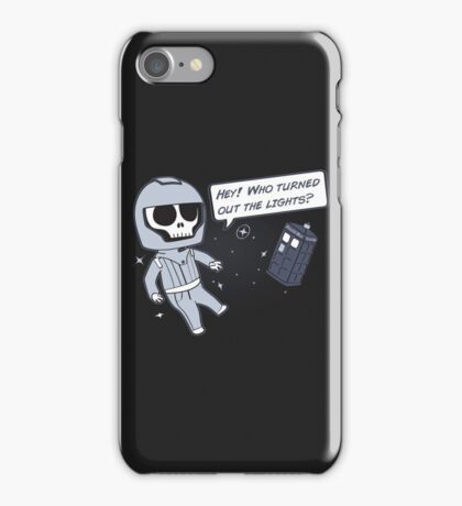 Lights out! iPhone Case/Skin