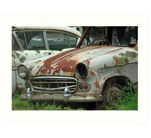Forgotten | old car yard, Sthn NSW Art Print