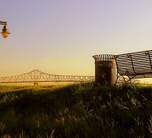 Bridge Between Benches by L.D. Bonner