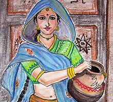 Rajasthani Woman by murali