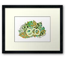 Eco concept label Framed Print