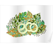 Eco concept label Poster