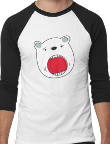 Face of a Polar Bear Men's Baseball ¾ T-Shirt