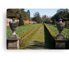The Long Garden: Cliveden Estate, Buckinghamshire, England, UK Canvas Print