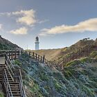 stairs to the lighthouse by Joel McDonald