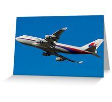 MAS Boeing 747 - Takeoff Greeting Card