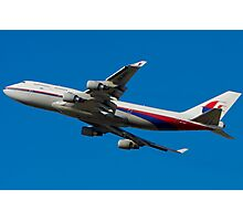 MAS Boeing 747 - Takeoff Photographic Print