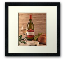 Bread, Wine and Cheese Framed Print