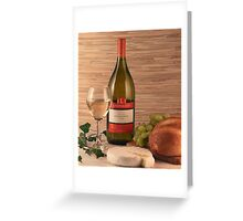 Bread, Wine and Cheese Greeting Card