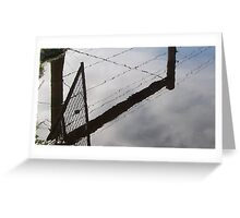 Gate Reflection Somerville Greeting Card