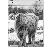 Highland Cow In The Snow 2 iPad Case/Skin