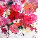 romantic pink roses by aquaarte