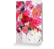 romantic pink roses Greeting Card